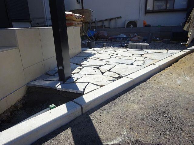 保谷町の家の外構工事(4月4日撮影)