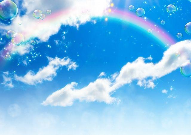 青空に架かる虹