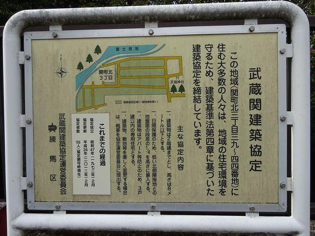 武蔵関建築協定の看板