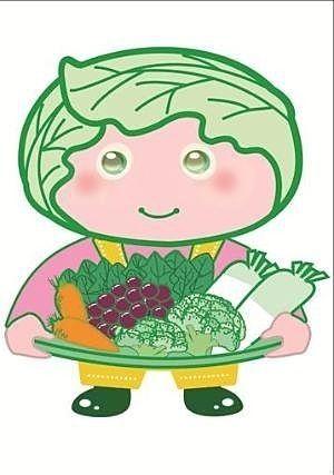 西東京市の農産物キャラクター「めぐみちゃん」