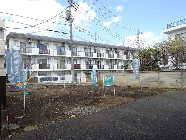 西東京市南町2丁目・土地の東南側から見た現地