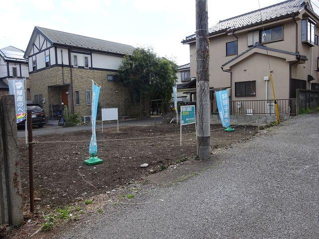 西東京市南町2丁目・土地の西北側より見た現地