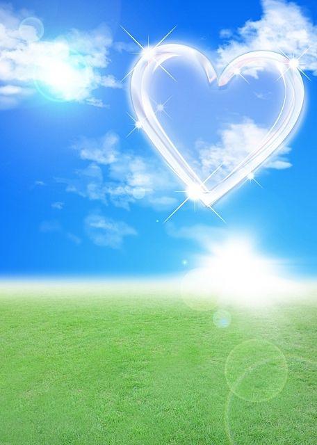 ポスターのイラストのイメージ画像(青い空と自然の緑)