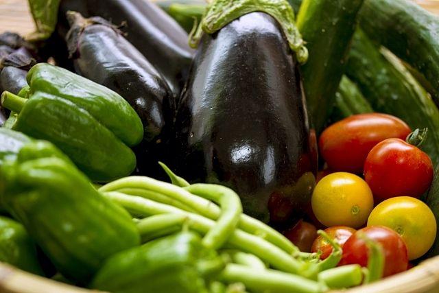 ピーマン、ナス、きゅうり‥夏野菜の品々