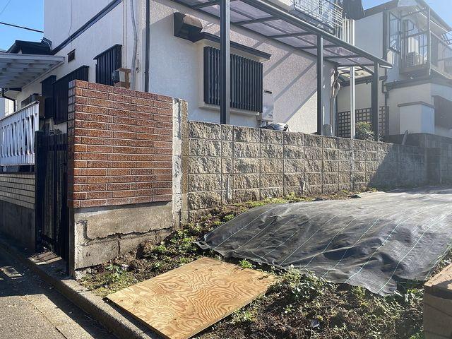 西東京市下保谷3丁目のブロック等の様子(2020.11.21)スプラッシュ