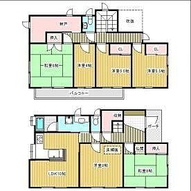 西東京市中町3丁目に所在する戸建住宅の間取り