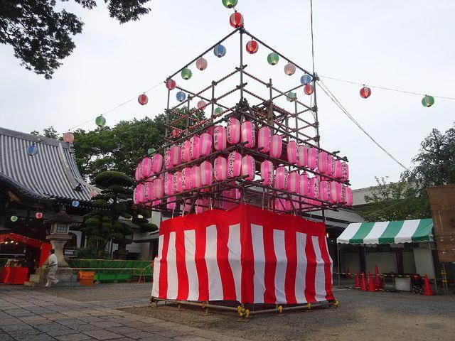 總持寺境内に作られた櫓