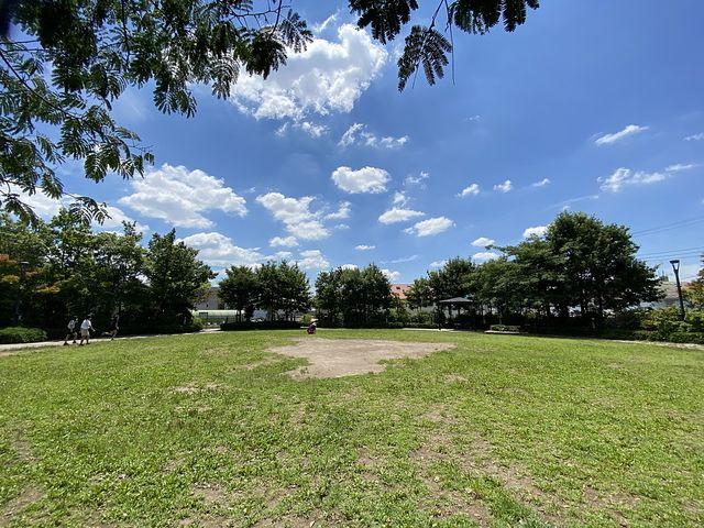 あらやし公園の芝生広場 スプラッシュ