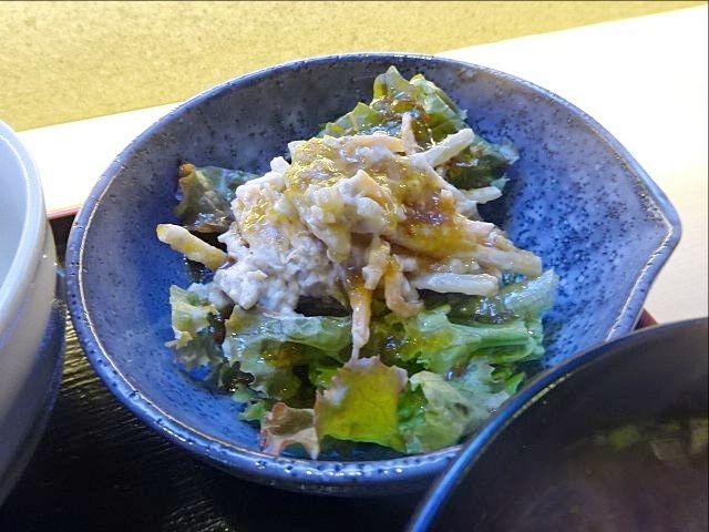珈古屋定食(9.12)小鉢のサラダ