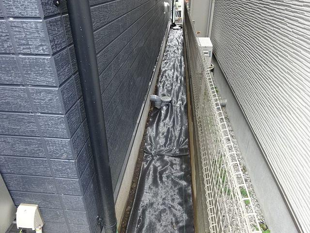 西東京市富士町5丁目の新築住宅・外構工事(西側)の様子(2019.10.6)