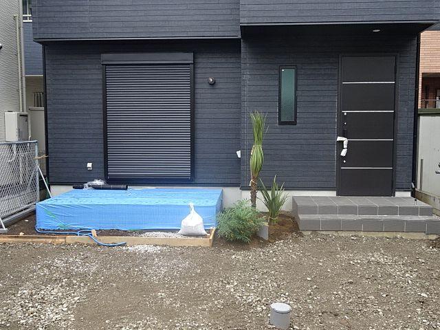 西東京市富士町5丁目の新築住宅・外構工事の様子(2019.10.6)