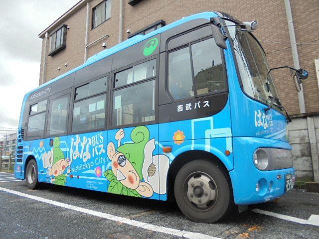 西東京市内で運行するコミュニティバス「はなバス」