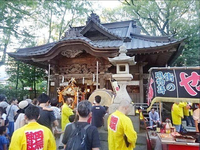 令和元年の田無神社例大祭 拝殿