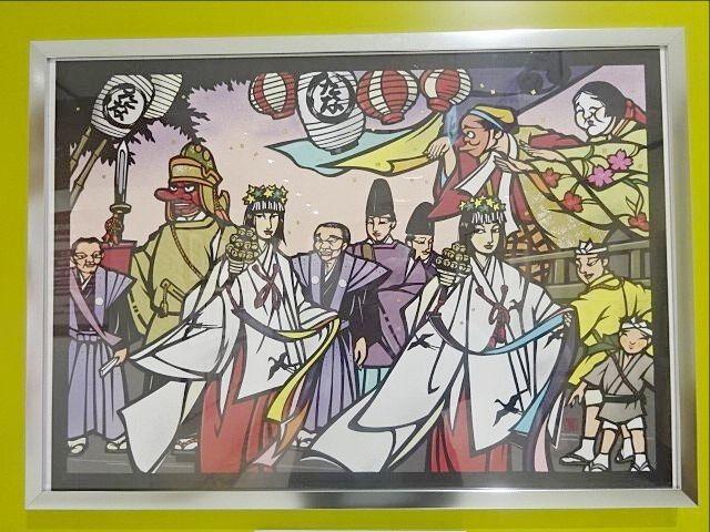 田無神社の切り絵(小出蒐)