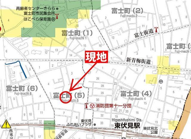 西東京市富士町5丁目周辺のハザードマップ・スプラッシュ