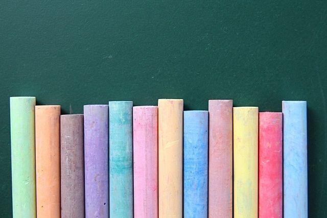 虹色のチョーク スプラッシュ