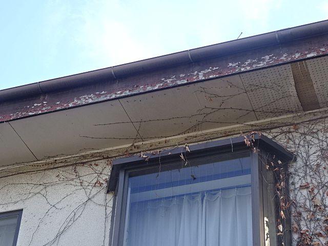 西東京市富士町の中古住宅の塗装が剥げた破風