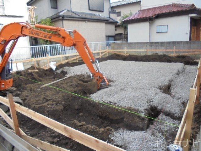 西東京市富士町3丁目新築住宅の基礎工事