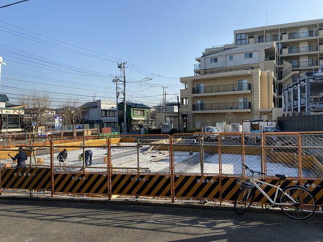 西東京市東町6丁目かえで通り沿いの建設現場の様子2(2020.2.2.21)