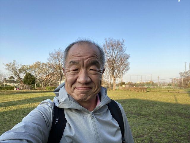 2020・4・5(日)下野谷遺跡で自撮りする鈴木義晴