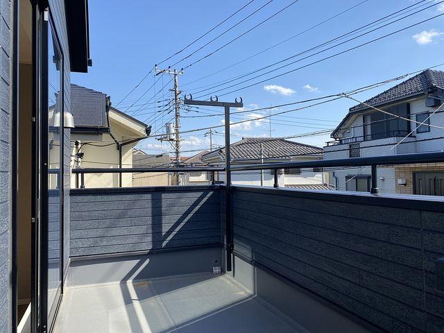 西東京市下保谷5丁目の新築住宅のバルコニー(2020.5.17)