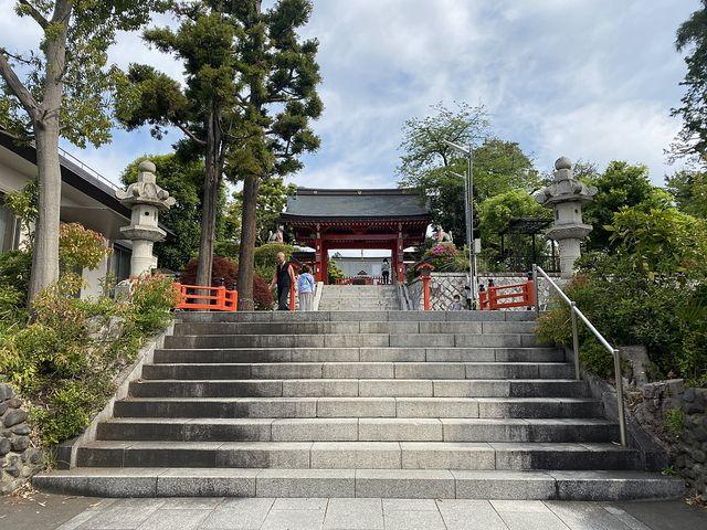 東伏見稲荷神社の参道の階段(2020.5.1)