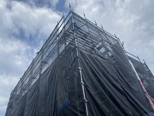 西東京市北原町3丁目新築一戸建ての足場(2020.5.10・スプラッシュ)
