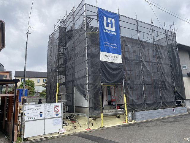 西東京市下保谷の新築一戸建の工事中の外観(スプラッシュ)
