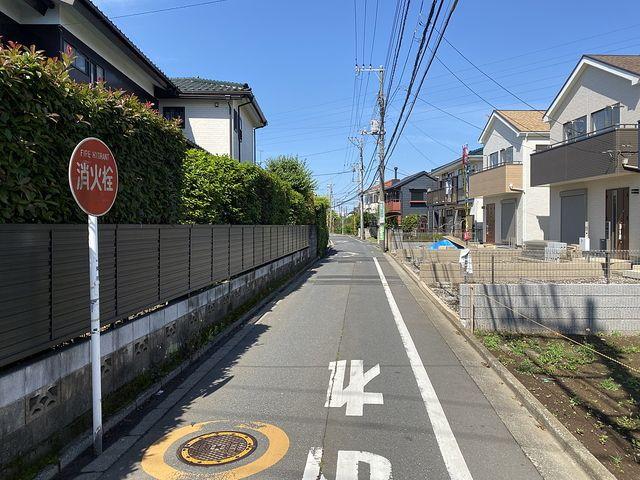 西東京市中町4丁目新築一戸建の前面道路の様子(2020.5.17)スプラッシュ