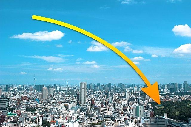 不動産価格の大幅下落が予測される東京都内の空