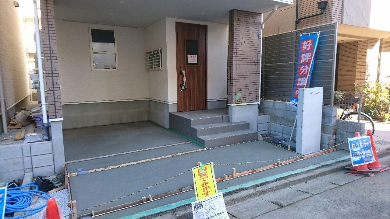 川口市西青木1丁目 新築戸建 12/13(木)もうすぐで外溝工事が完了です