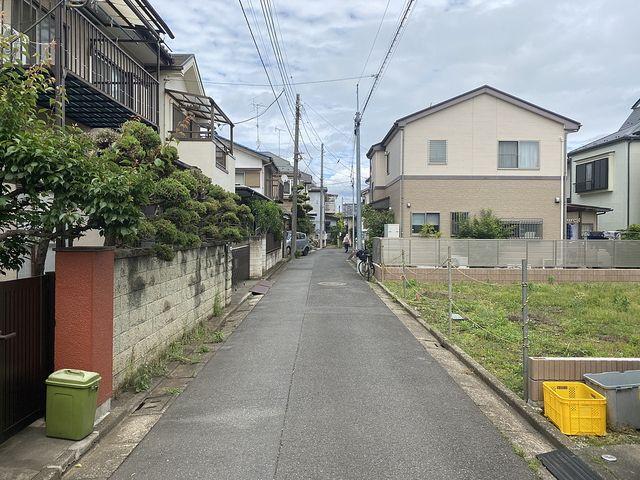 西東京市栄町3丁目の売地(2020.5.23)前面道路