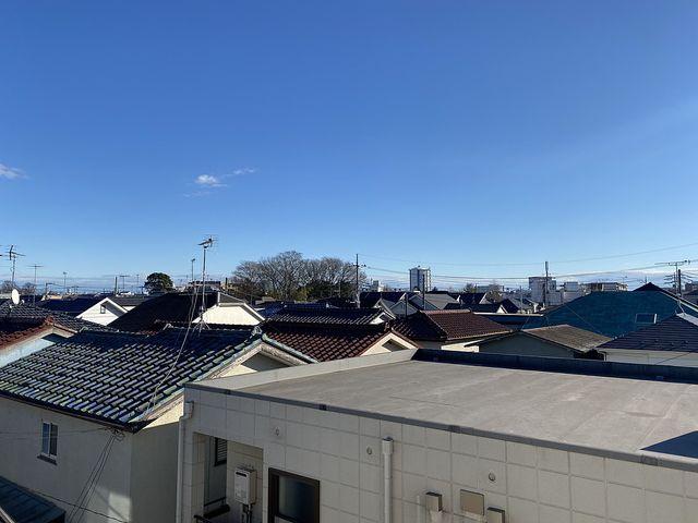 西東京市泉町の3階建て新築一戸建てのバルコニーからの眺望