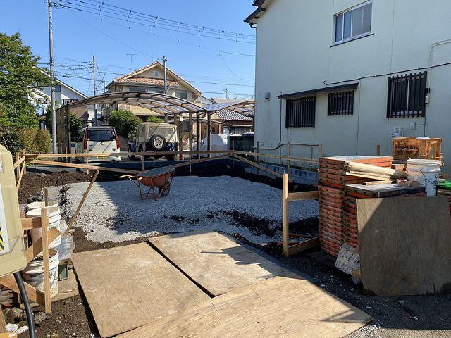 西東京市下保谷1丁目新築一戸建ての現場(2020.5.29)ベタ基礎の様子