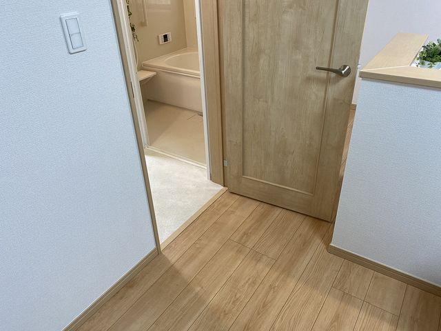 西東京市保谷町(飯田産業)洗面化粧室のドアとキッチン3