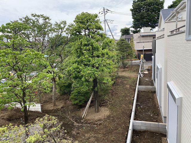 西東京市中町6丁目の新築一戸建て 南側の植木畑