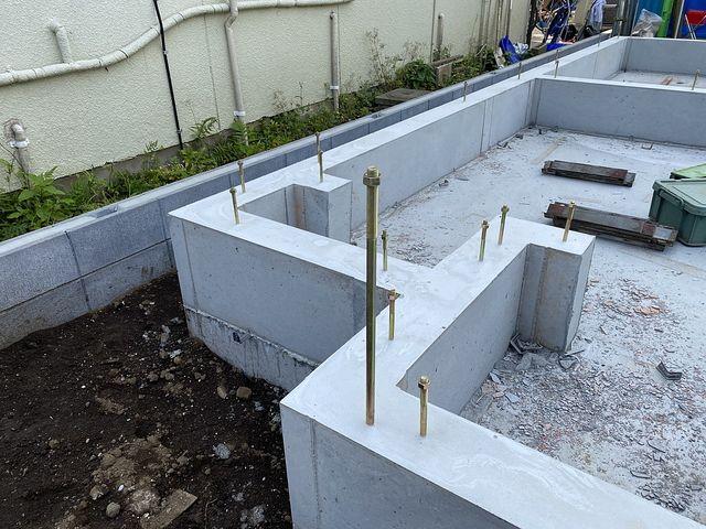 西東京市下保谷1丁目新築一戸建ての基礎3(2020.6.9)スプラッシュ