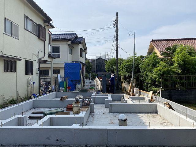 西東京市下保谷1丁目新築一戸建ての基礎4(2020.6.9)スプラッシュ