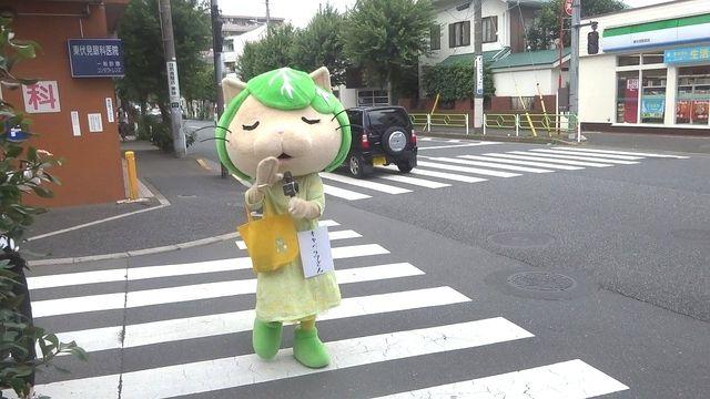 東伏見駅北口を練り歩くキャベッツさん