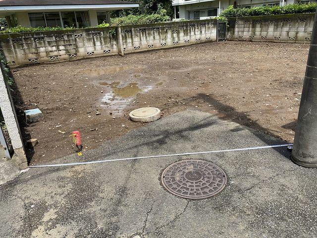 西東京市富士町丁目の土地(2020.7.26撮影)間口部分 スプラッシュ