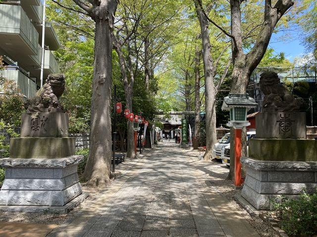 西東京市にある田無神社の参道(スプラッシュ)