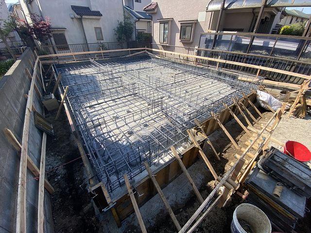 西東京市下保谷3丁目新築戸建・基礎工事の配筋(2021.4.8)スプラッシュ