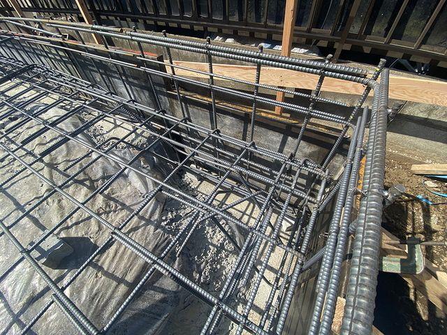 西東京市下保谷3丁目新築戸建・基礎工事の配筋2(2021.4.8)スプラッシュ