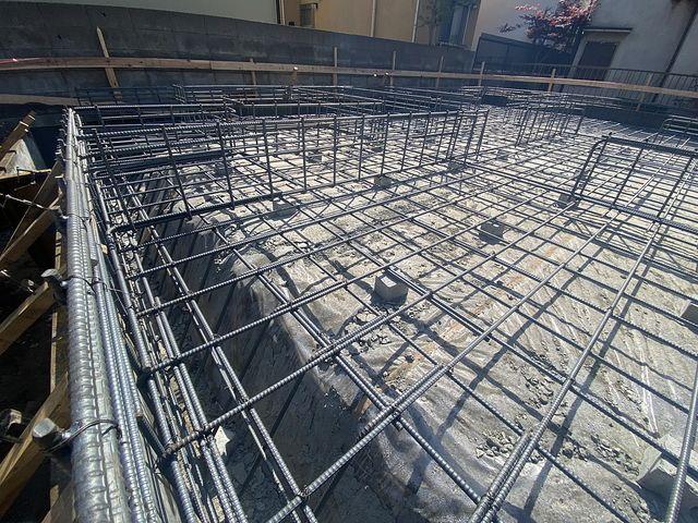 西東京市下保谷3丁目新築戸建・基礎工事の配筋3(2021.4.8)スプラッシュ