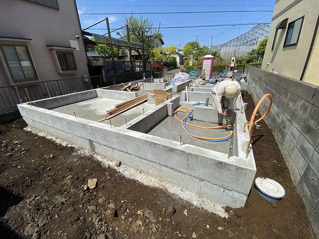 給排水設備工事をする西東京市下保谷3丁目の新築一戸建て現場2(2021.4.15)スプラッシュ