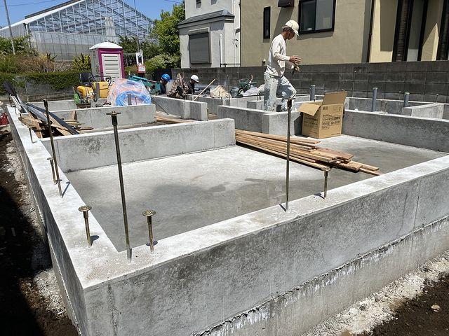 給排水設備工事をする西東京市下保谷3丁目の新築一戸建て現場3(2021.4.15)スプラッシュ