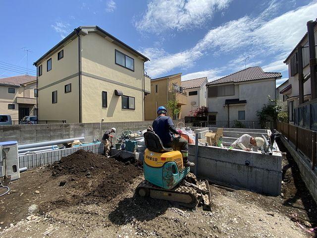 給排水設備工事をする西東京市下保谷3丁目の新築一戸建て現場4(2021.4.15)スプラッシュ