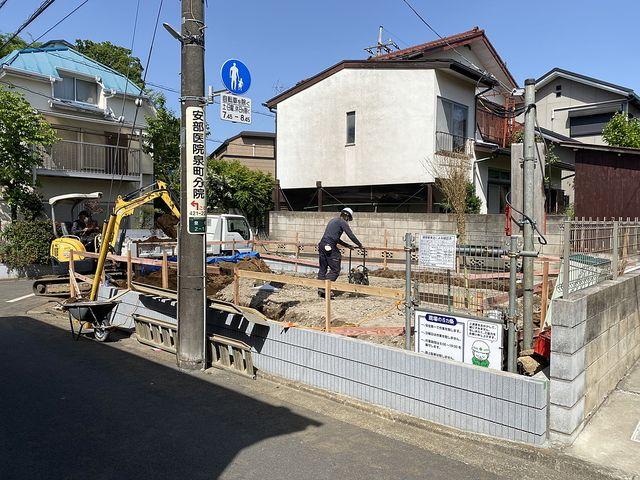 西東京市泉町2丁目の新築一戸建て基礎工事(根切り)の様子2(2021.4.30)スプラッシュ