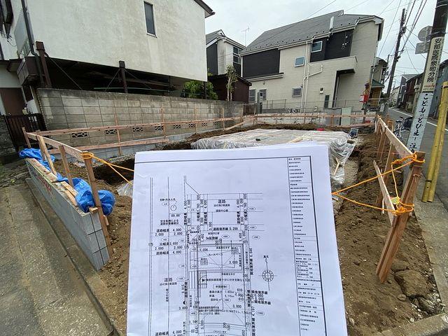 西東京市泉町2丁目新築一戸建ての基礎工事の様子1(2021.5.1)スプラッシュ