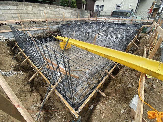 西東京市泉町2丁目新築住宅の基礎配筋の様子5(5.7)スプラッシュ